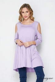 honeyme Lavender Cold Shoulder - Product Mini Image