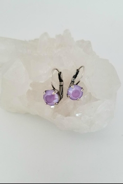 Shoptiques Product: Lavender Crystal Earrings