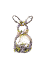 The Birds Nest LAVENDER EASTER RABBIT BASKET - Product Mini Image