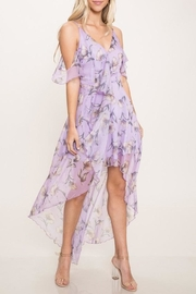 L'atiste Lavender Floral Dress - Product Mini Image