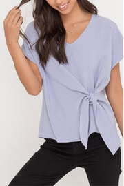 Lush Lavender Front-Tie Top - Product Mini Image