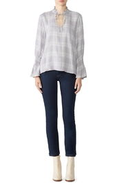 Waverly Grey Lavender/grey Plaid Blouse - Product Mini Image