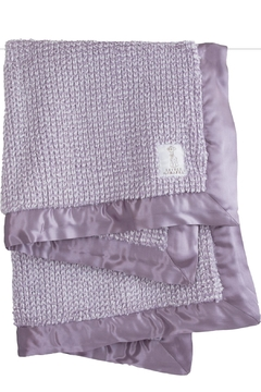 LITTLE GIRAFFE Lavender Herringbone Blanket - Alternate List Image