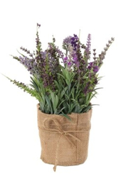 All State Floral Lavender In Burlap - Product Mini Image