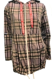 Maryley Lavender Plaid Anorak - Front full body