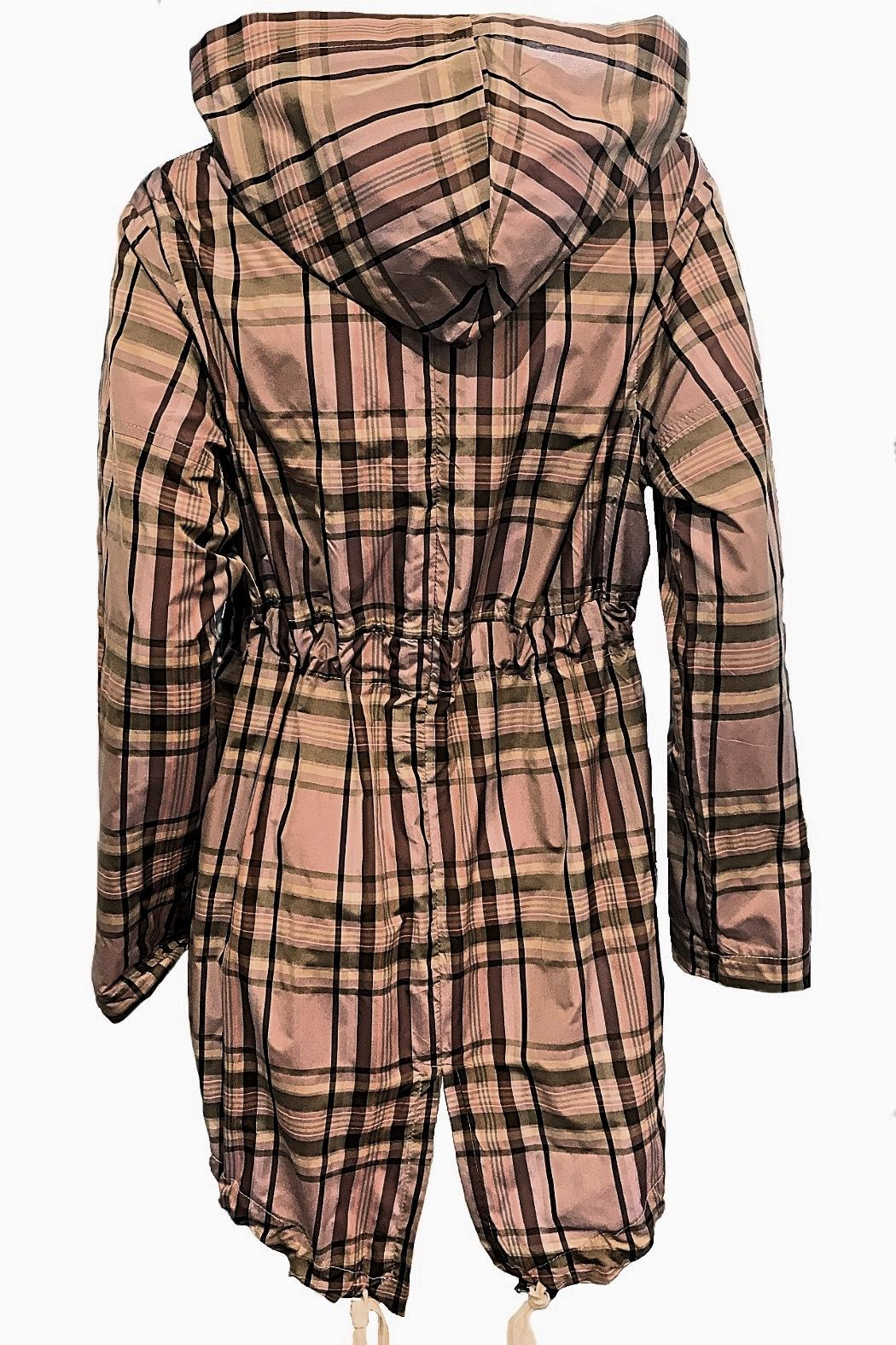 Maryley Lavender Plaid Anorak - Side Cropped Image