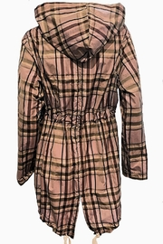 Maryley Lavender Plaid Anorak - Side cropped