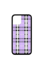 Wildflower Cases Lavender Plaid iPhone 11 Pro Case - Front cropped