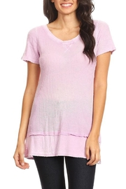 T Party Lavender Thermal-Knit Tee - Product Mini Image