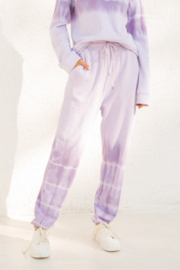 Hem & Thread Lavender Tie Dye Joggers - Product Mini Image