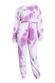 TIC:TOC Lavender Tie Dye Sweatpants - Product Mini Image