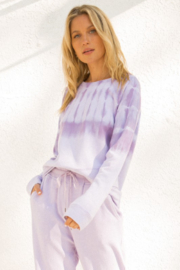 Hem & Thread Lavender Tie Dye Sweatshirt - Product Mini Image
