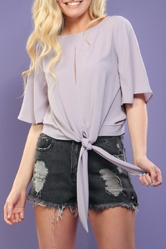 Tyche Lavender Tie-Front Top - Product List Image