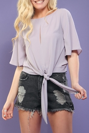 Tyche Lavender Tie-Front Top - Product Mini Image