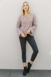Mystree Lavender Wide-Sleeve Sweater - Other
