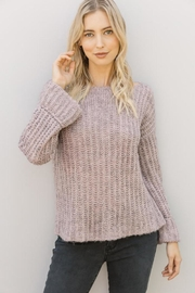 Mystree Lavender Wide-Sleeve Sweater - Front cropped
