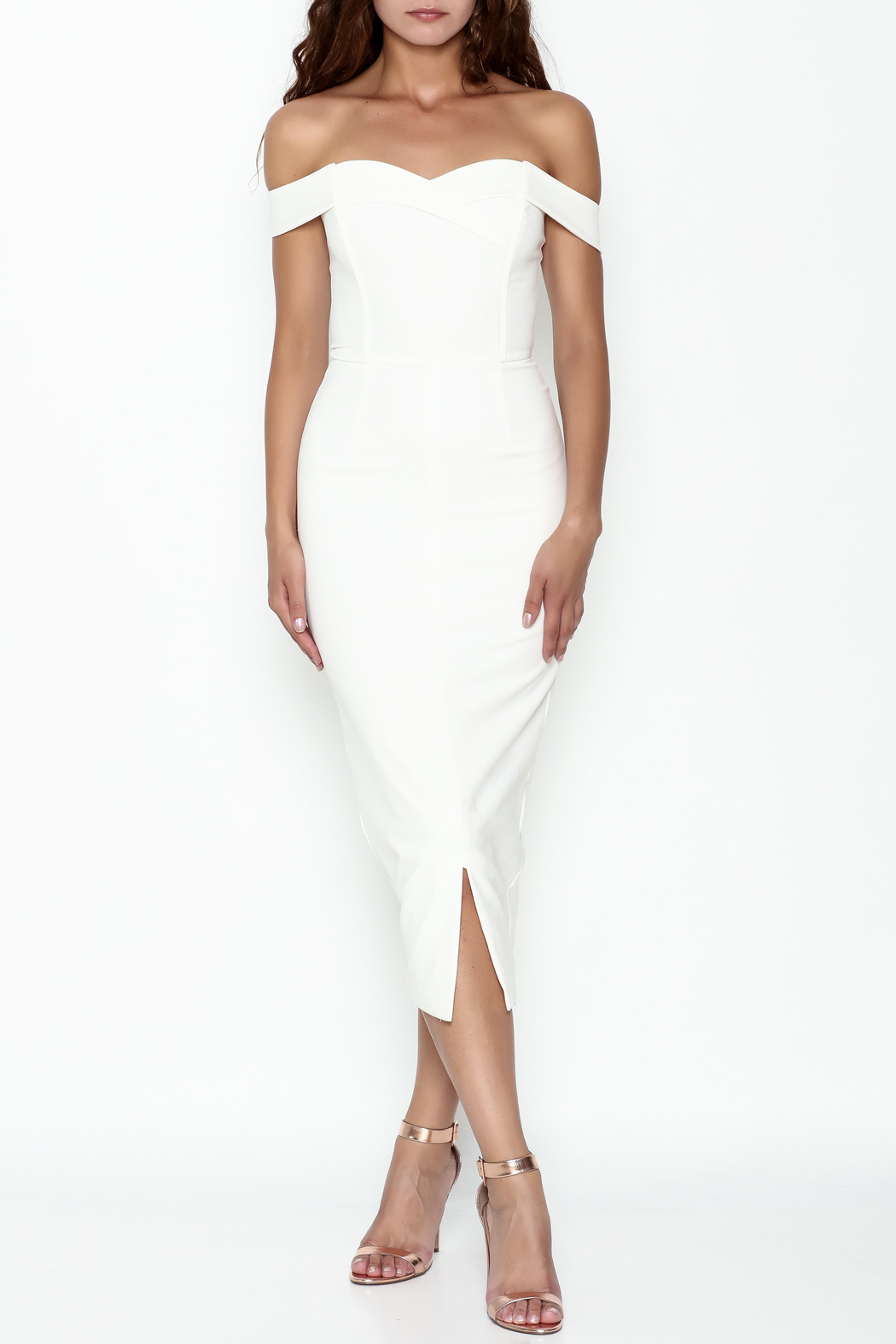 LAVISH ALICE Bardot Fitted Dress - Main Image