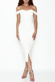 LAVISH ALICE Bardot Fitted Dress - Product Mini Image