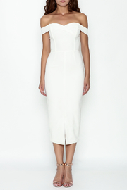 LAVISH ALICE Bardot Fitted Dress - Front full body