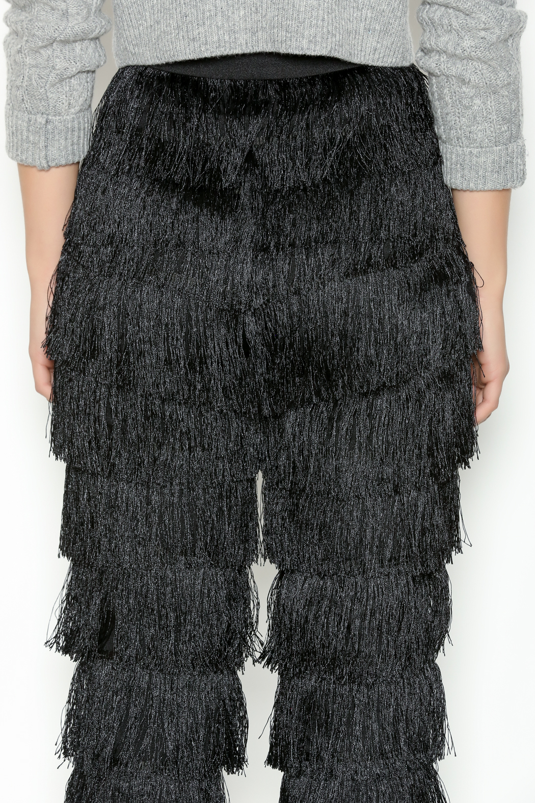 Lavish Alice Black Fringe Pants From Michigan By Lifted