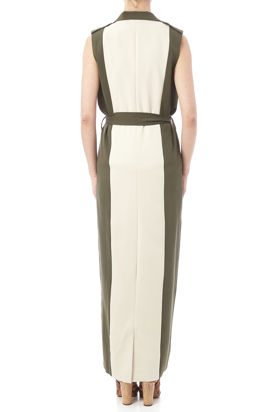 LAVISH ALICE Two Tone Trench - Back Cropped Image