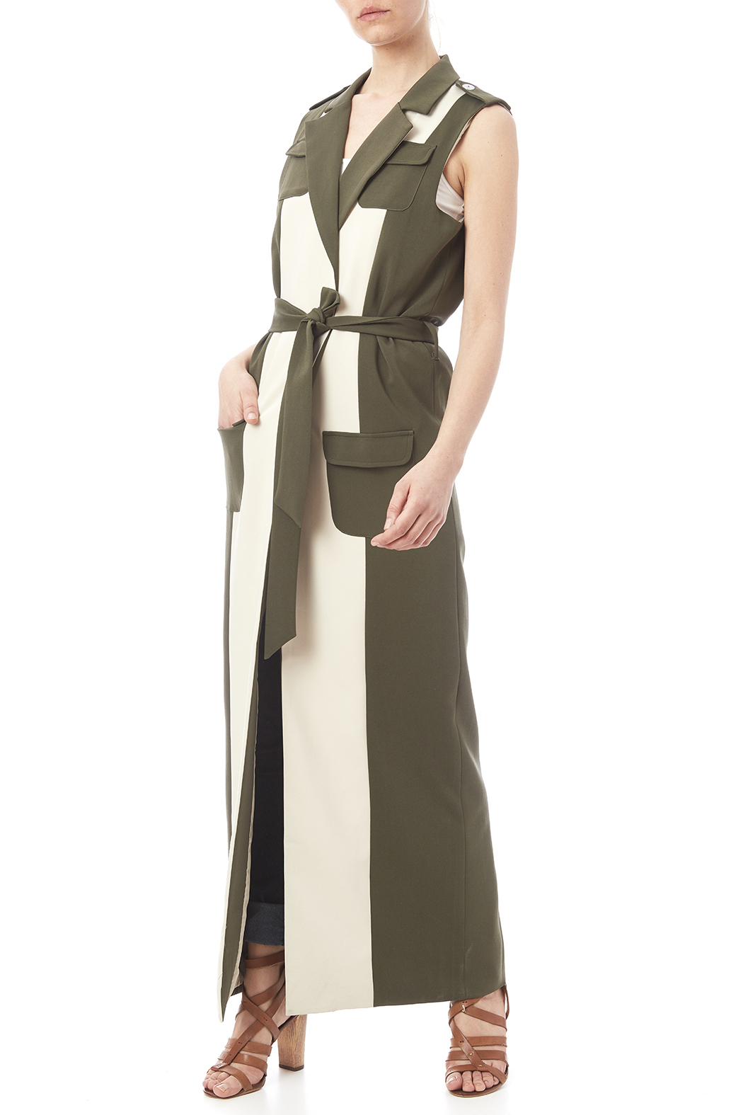 LAVISH ALICE Two Tone Trench - Main Image