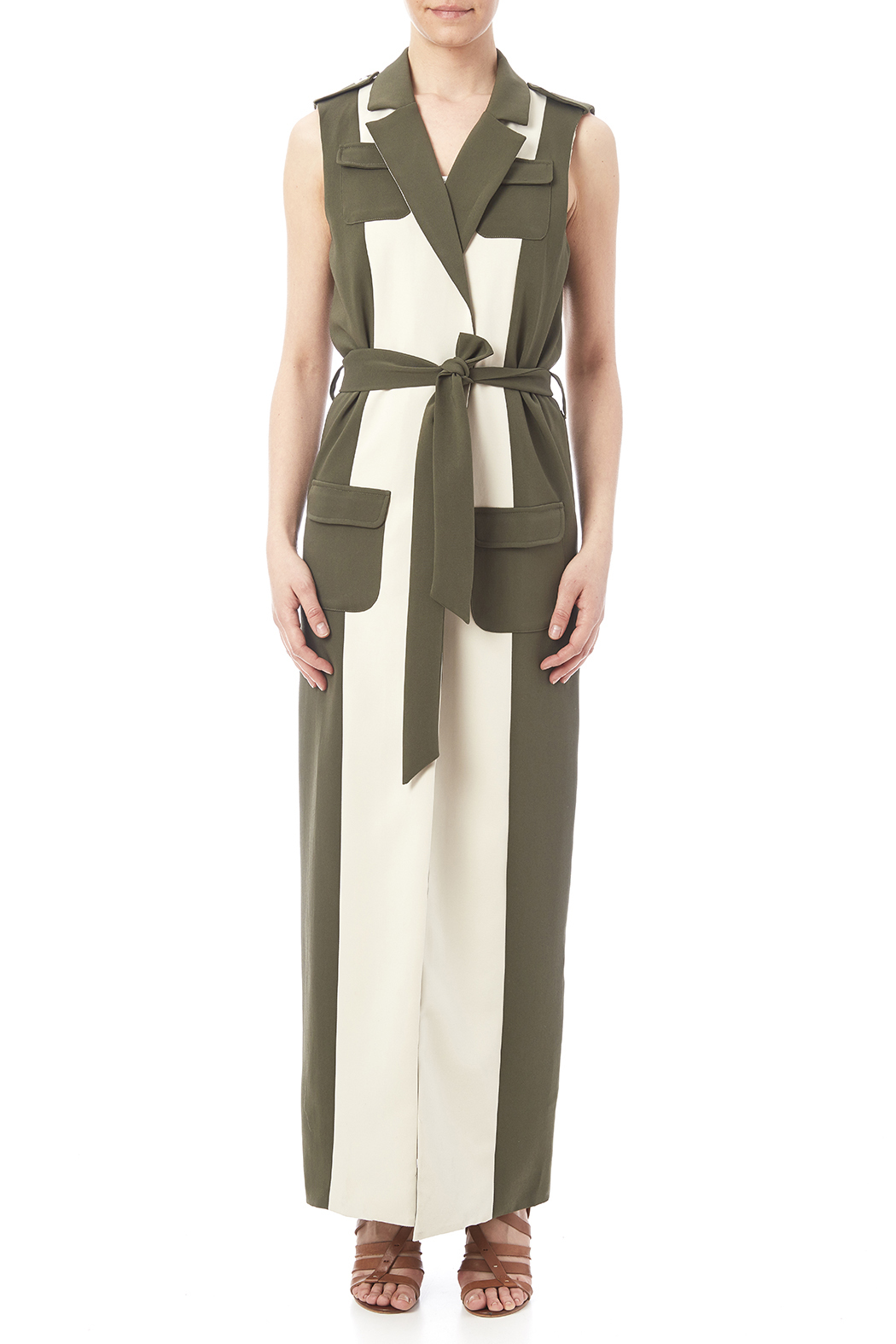 LAVISH ALICE Two Tone Trench - Front Cropped Image