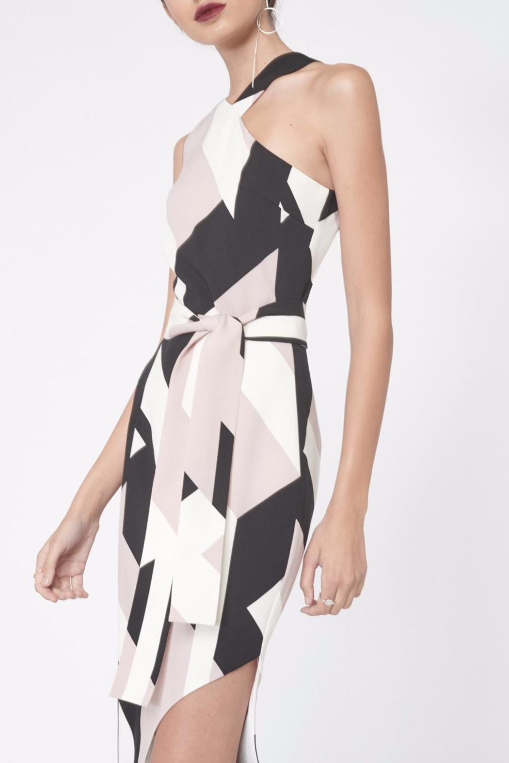 LAVISH ALICE Abstract Print Asymmetric Dress - Side Cropped Image