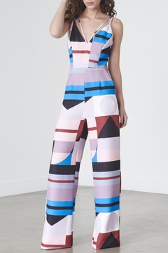 Shoptiques Product: Abstract Print Jumpsuit