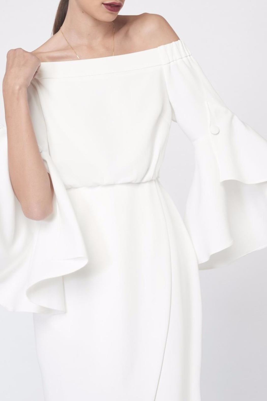 LAVISH ALICE Bell Frill Sleeves Dress - Side Cropped Image
