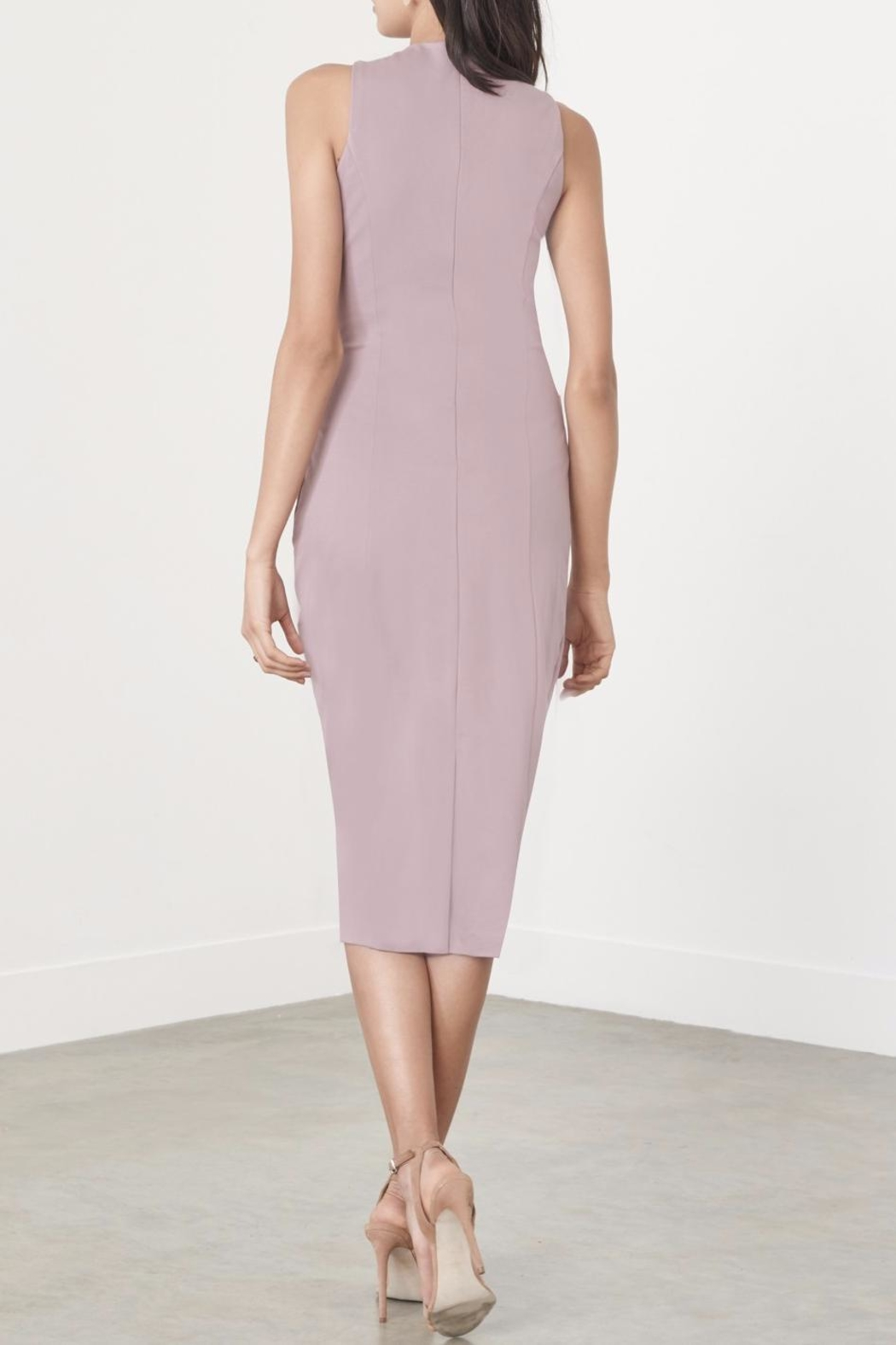 LAVISH ALICE Mauve Metal Ring Dress - Back Cropped Image