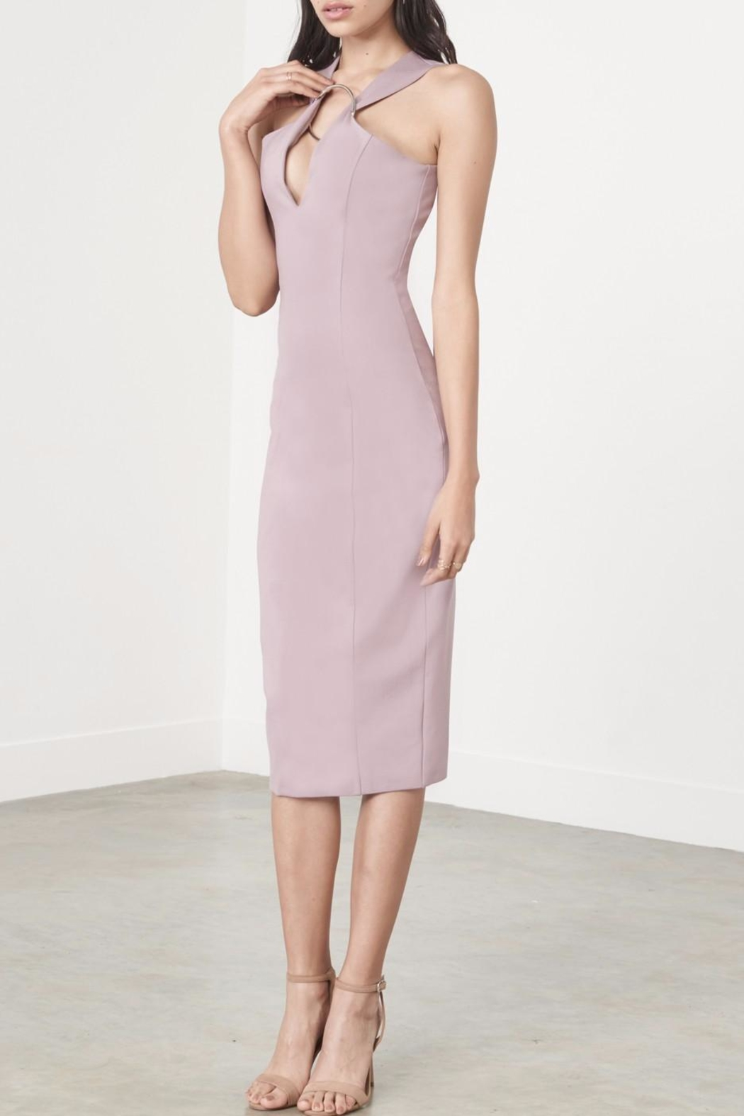 LAVISH ALICE Mauve Metal Ring Dress - Main Image