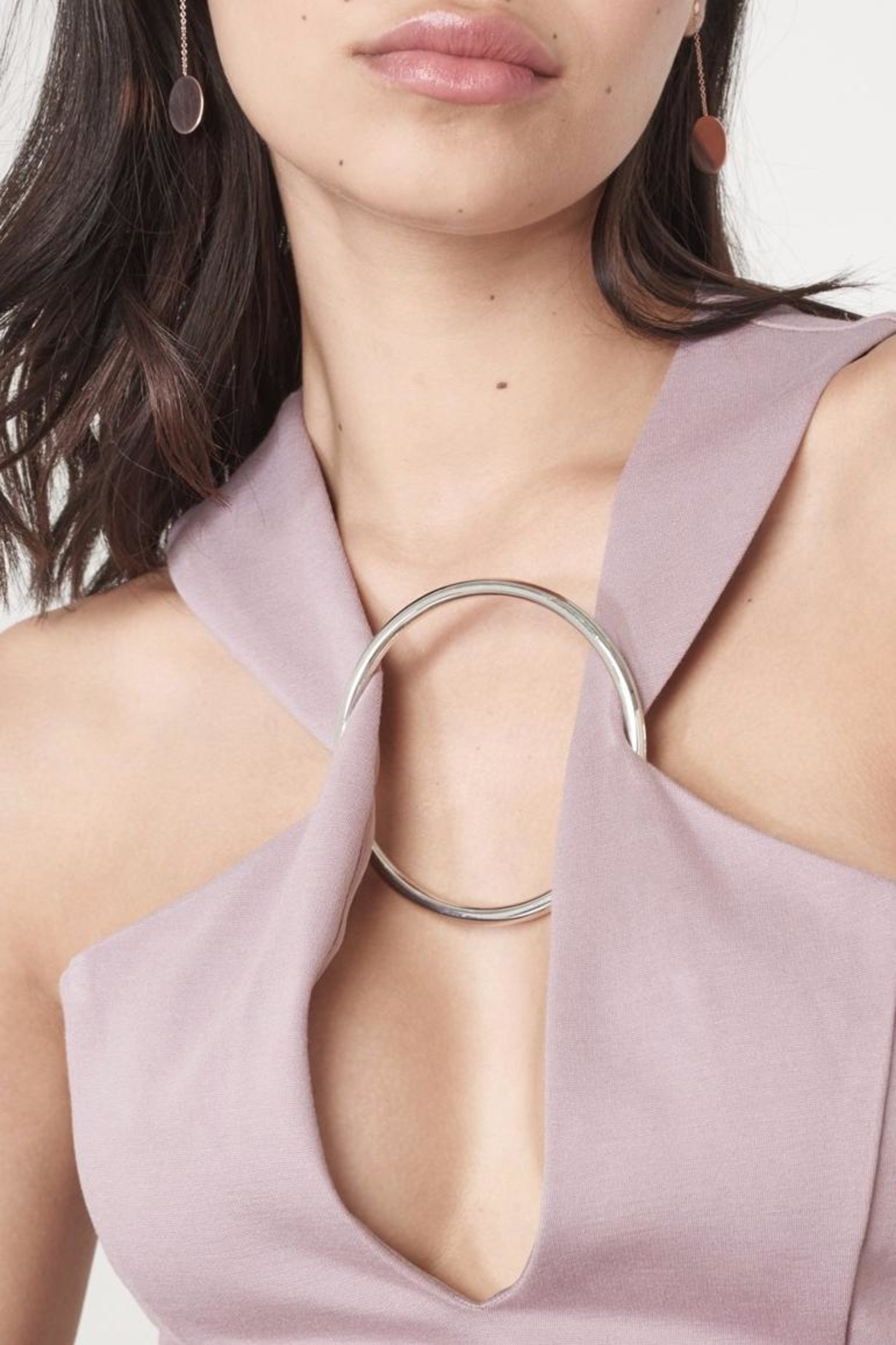 LAVISH ALICE Mauve Metal Ring Dress - Side Cropped Image