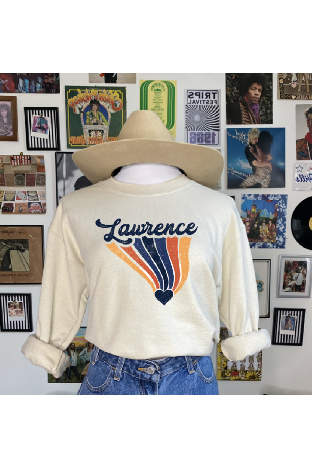 Mamie Ruth Lawrence Love Graphic Sweatshirt - Front Cropped Image