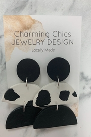 Charming Chics Lay Cow Earrings - Product Mini Image