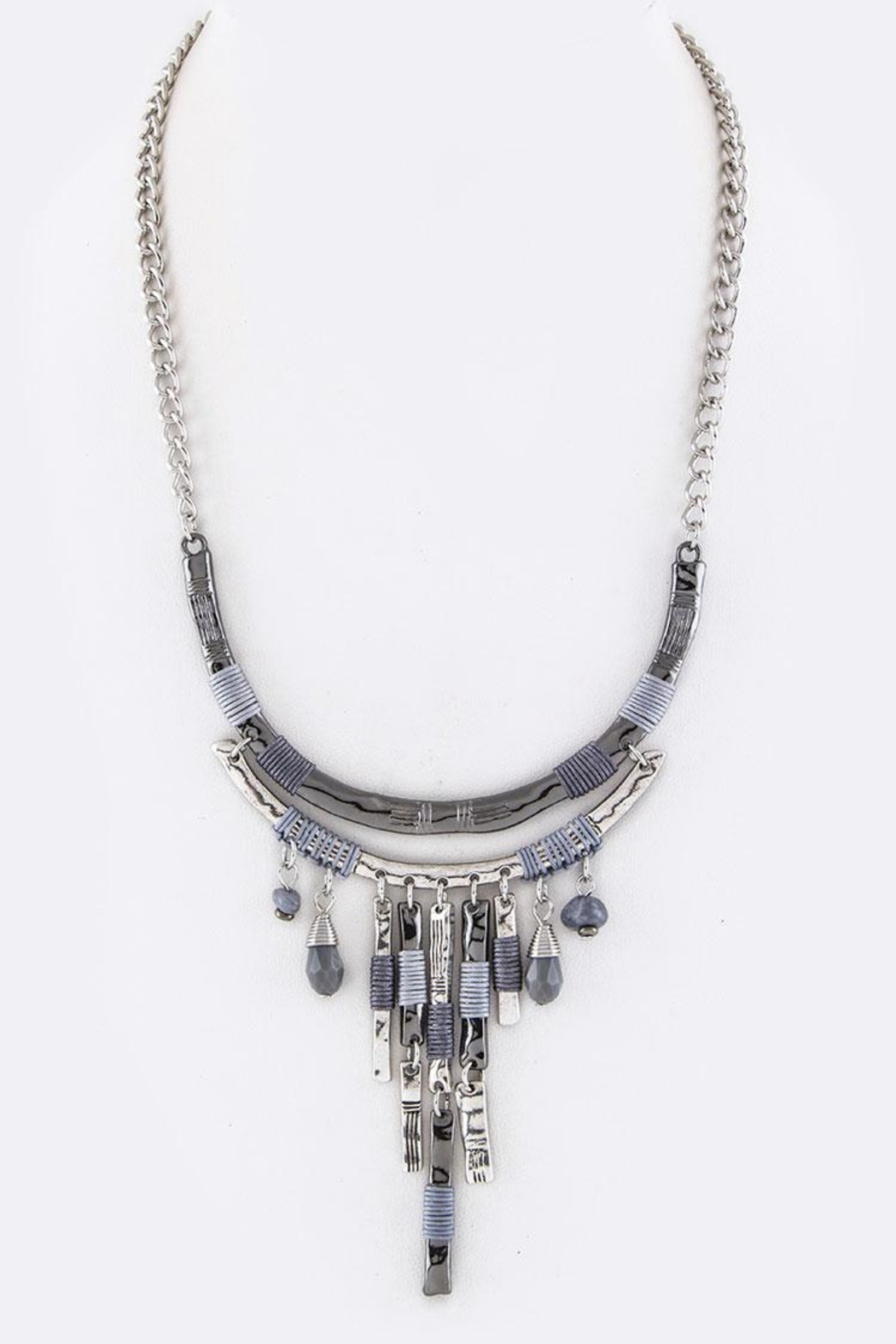 Nadya's Closet Layer Bars Necklace - Front Cropped Image