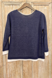Vila Milano Layered 3/4 sleeve sweater - Front cropped