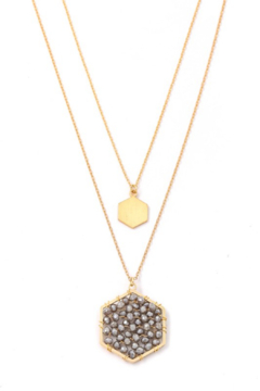 Anarchy Street Layered Beaded Hexagon Necklace - Alternate List Image