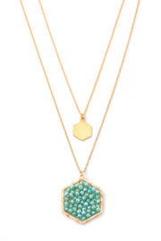 Anarchy Street Layered Beaded Hexagon Necklace - Product Mini Image