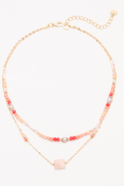 Nakamol  Layered Beaded Necklace - Front cropped
