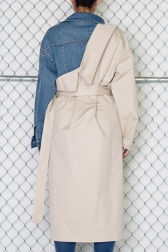 Rehab Layered Belted Trench Coat - Alternate List Image