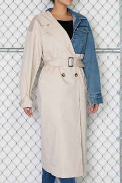 Rehab Layered Belted Trench Coat - Product List Image
