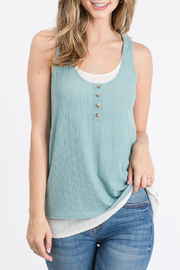 Allie Rose Layered Button Tank - Product Mini Image