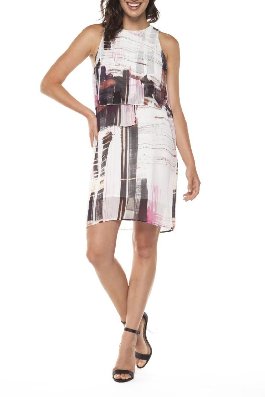 Dex/Black Tape Layered Chiffon Dress - Main Image