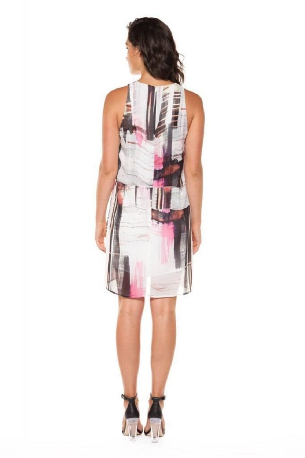 Dex/Black Tape Layered Chiffon Dress - Front Full Image