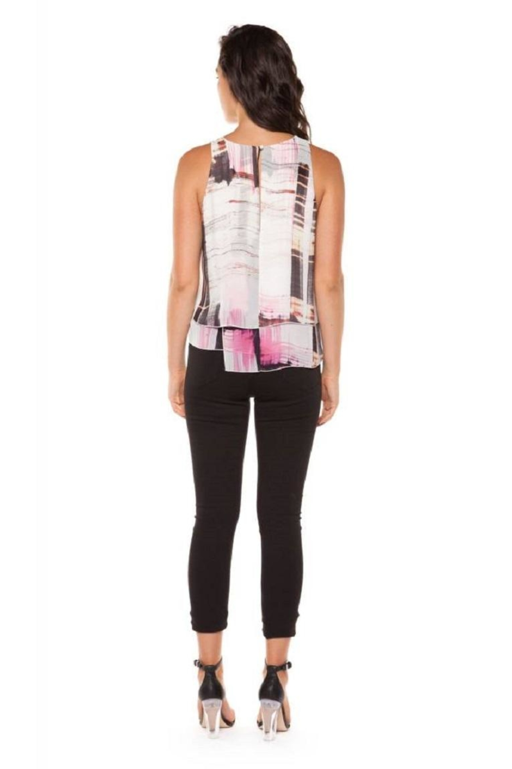 Dex/Black Tape Layered Chiffon Top - Front Full Image