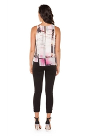 Dex/Black Tape Layered Chiffon Top - Front full body