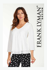 Frank Lyman Layered Chiffon Top, Multiple colors - Product Mini Image