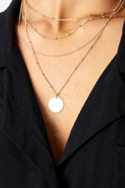 frontrow Layered Coin Necklace - Front cropped
