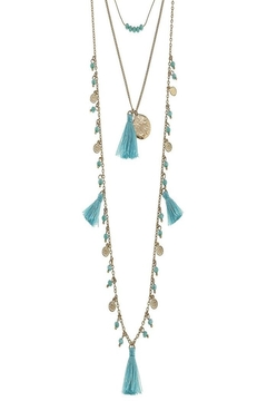 Canvas Layered Coin Necklace - Alternate List Image